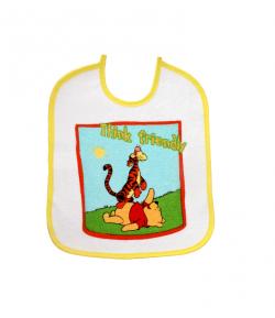 Disney baby előke -micimackó+tigris sárga