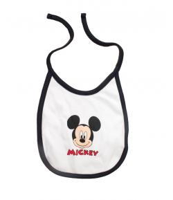 Disney Mickey megkötős pamut előke / fehér háttérrel/