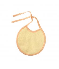 Sárga-narancs szegővel kör alakú előke