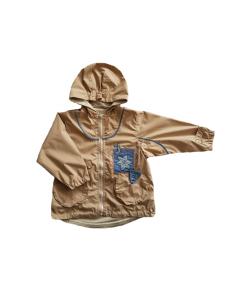 Kapucnis drapp kislány dzseki 98-104-es