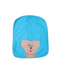 Kék, lógó fülű kutya mintás ovizsák