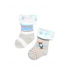 Színes baby zokni 0-3 hó