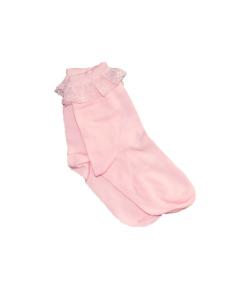 Alkalmi rózsaszín gyerek zokni 26-28