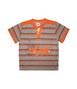 ZSIL- Kakaó barna-narancs színű póló horgony mintával 104-es