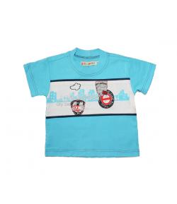 Lollipop- Világos kék, elején fehér betéttel díszített fiú póló