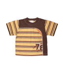 Zsil- Csoki -vanília színű csíkos fiú póló 92-es