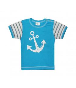 Scamp -Királykék fiú póló horgony mintával