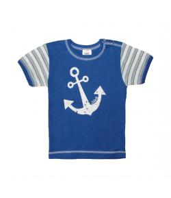 Scamp -Sötétkék fiú póló horgony mintával 98-as