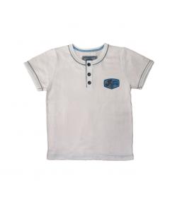 Mikka- Divatos kerek nyakú fiú póló 104-es