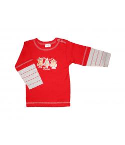 Scamp -Piros baby hosszú ujjú póló 80-as