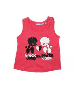 MC baby- Piros kislány trikó 6 hónap