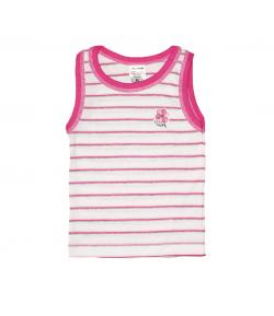 Scamp- Fehér - rózsaszín csíkos kislány atléta