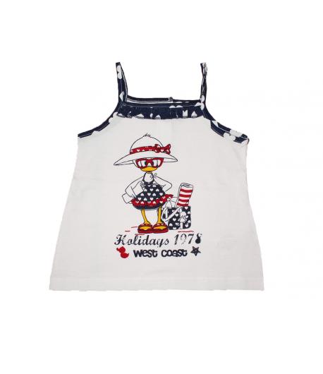 cde9e733c2 Mc baby - Fehér színű szívecske szegővel díszített spagetti pántos ruha