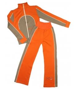 R-WAY- Narancs -keki színű melegítő szett 134-es