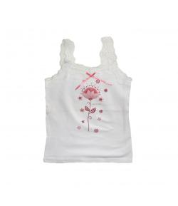 Mikka- Virágmintás kislány trikó 110-es