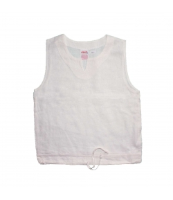 Killy - Lenvászon anyagú fehér kislány trikó 134-es