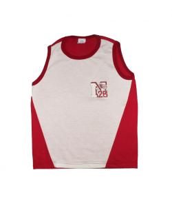 Q-pecz- Bordó-nyers színű fiú trikó 140-es