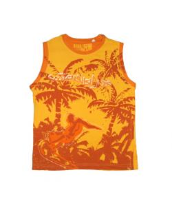 Losan- Napsárga trikó narancs szegőzéssel díszített 14 év