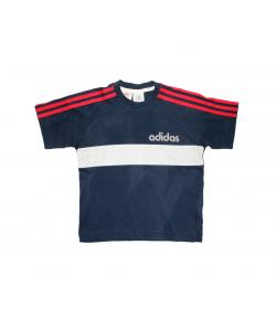 Adidas- Sötétkék-fehér betéttel díszített fiú póló 110-es
