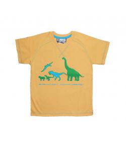 Mikka- Mustár színű, raglán vállú fiú póló 116-os