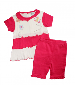 F. S. Baby-Nyers -pink színű ruha- térdnadrággal