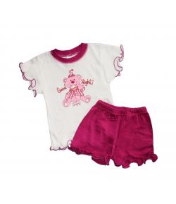 Scamp- Kislány kétrészes napozó szett -lila sorttal