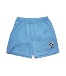Scamp-Világos kék -fehér csíkos póló elején labdás filmnyomással-kék rövidnadrággal 104-es