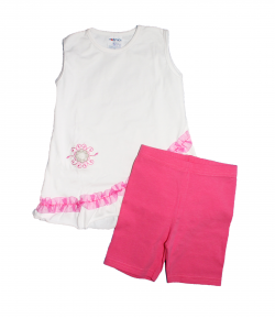 Boniface- Ujjatlan tunika sortszerű, rózsaszín nadrággal