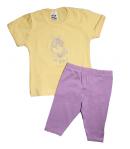 Ring - Sárga kislány felső - lila testnadrággal 86-os