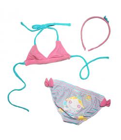 Yatsi - Kislány bikini szett hajráffal