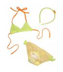 Yatsi - Kislány bikini szett hajráffal 3-as 98-104-es