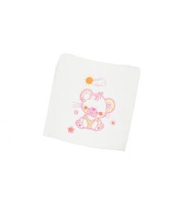 Nyomott mintás textil pelenka- Maci -rózsaszín felhő mintával