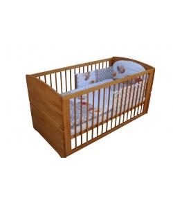 Tömör, gőzölt bükkfából készült heverővé átalakítható gyermekágy 70 x140-es