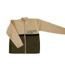 Brando 2000 - Bézs -zöld színű zipzáros kötött kardigán 116-os