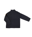 Boy Star- Raglán szabású, acél kék színű kötött pulóver 104-es