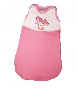 Scamp - Rózsaszínű- fehér színű bébi hálózsák 92-98-as