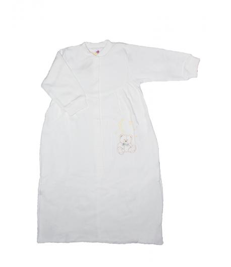 8519a5b124 Király G. - Fehér színű, vékony pamut hosszú ujjú hálózsák 80-86-os