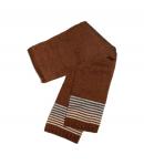 Bla-Bla ' 2000 Kft - Csoki barna színű, alul színes csíkozással díszített vastag kötött nyaksál