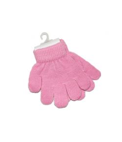 Telico-Ötujjas kötött rózsaszín gyermekkesztyű