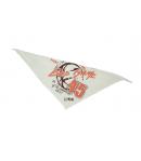 Minimanó - Nyers színű kendő, nyomott mintás felirattal díszített