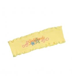 Boniface - Napsárga színű, elől hímzett virággal és felirattal díszített fülpánt 2év