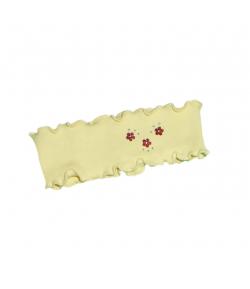 Minimanó - Sárga színű apró fényes virágmintával díszített fülpánt 1-2 év