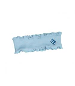 Minimanó - Babakék színű fülpánt 2-3 év nonfiguratív mintával díszített