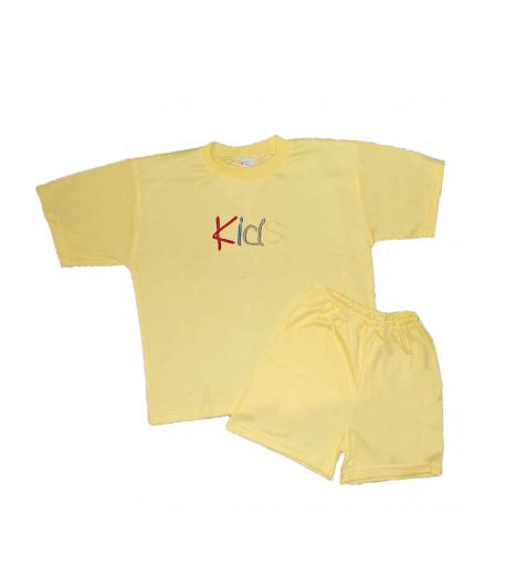 4180e02558 Gondola- 2 részes sárga, rövid ujjú kislány pizsama 128-134