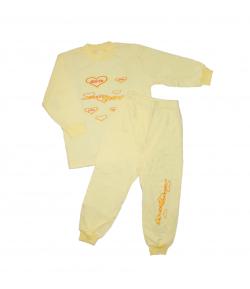Teresa - 2 részes citromsárga kislány pizsama 104-110-es