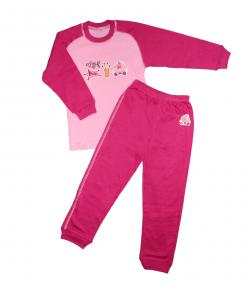Scamp- 2 részes rózsa-ciklámen kislány pizsama 104-es