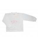 Gondola- 2 részes hófehér, hímzett pillangóval díszített kislány pizsama 104-110-es