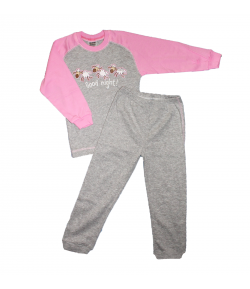 Scamp- 2 részes báránymintával díszített kislány pizsama 104-es