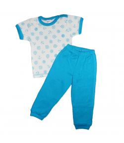 Scamp- 2 részes rövid ujjú felső, hosszú nadrággal, horgony mintával díszített fiú többféle méretben