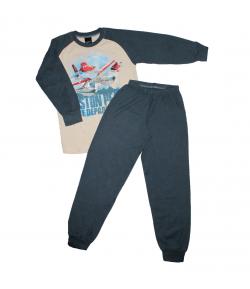 Pampress - 2 részes repcsis filmnyomással díszített fiú pizsama 116-122